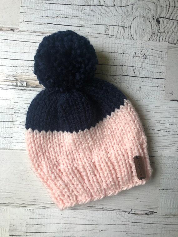3 Pi/èces Chapeau d/'Hiver d/'Enfants avec Pompon Bonnet Tricot/é Bonnet avec Oreilles en Fausse Fourrure pour Tout-Petit