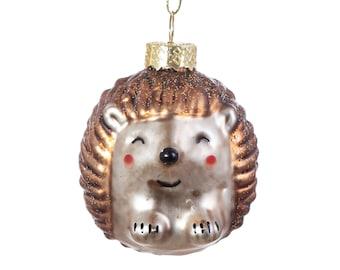 Baby Hedgehog Metallic Gold Bronze Christmas Tree Decoration - Festive Season Winter Wonderland Nature Animals Woodland Pets Gift Present