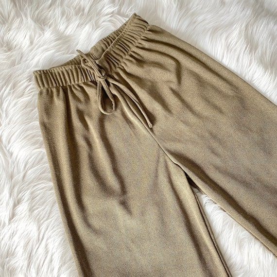 Easy High Waist Elastic Taupe Lounge Pants