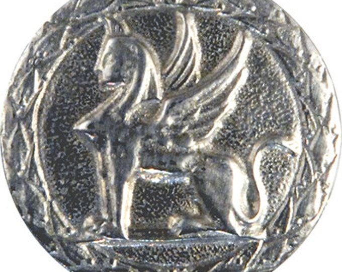 Large pewter Griffin Button matching buttons avalable
