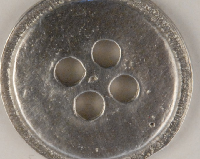 Four Hole Button 7/8 inch made of Pewter