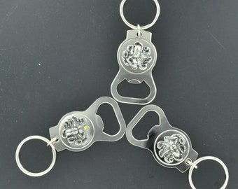 Octopus Key Chain/bottle opener, Hand made  in USA