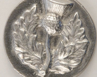 Large Round Thistle button 1 1/4 inch Thistle Button 1 1/4 inch the  largest in 3 button series, Hand made  in USA