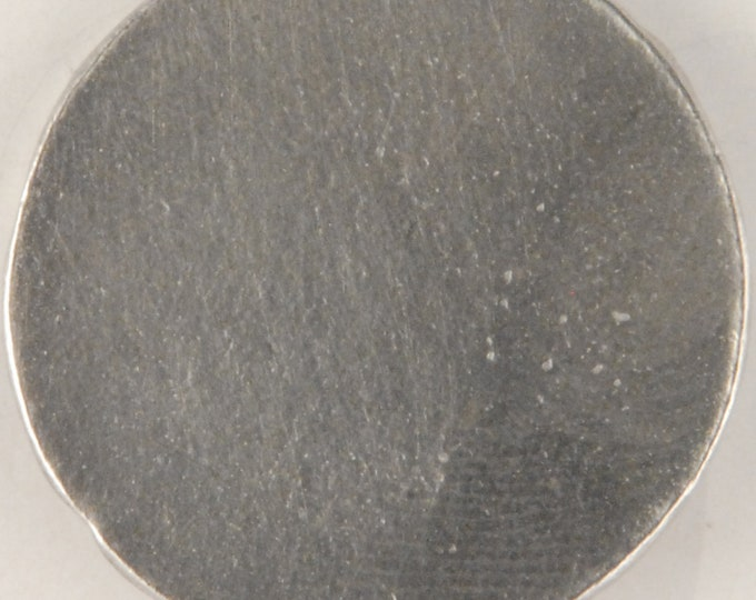 "Big Round, flat button #129 (1 1/8"") Engraving Available."