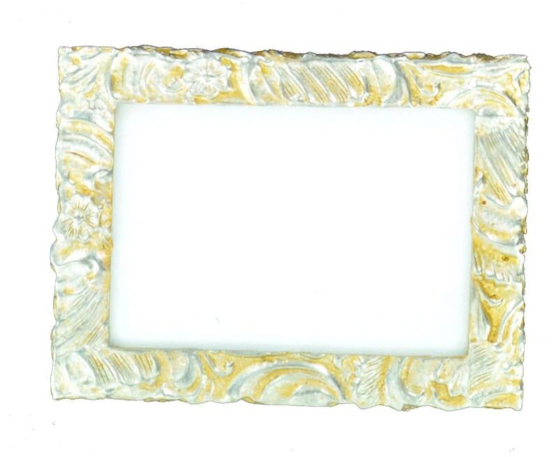 3 38 x 4 12 handmade 20th-century pewter frame replica
