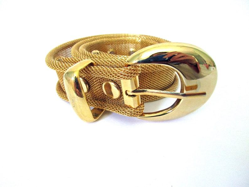 ad63cbe3904 Gold Metal Mesh Belt Vintage, FREE SHIPPING, Size Small Belt, Gold Metal  Fashion Belt, Gold Link Buckle Clasp Belt, Ladies Gold Belt
