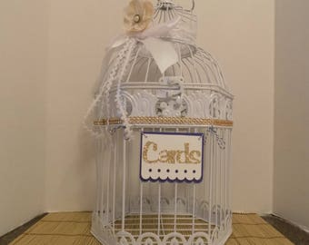 Birdcage Cardholder, Wedding Cardbox, Gift Card Holder, Wedding Centerpiece, MoneyBox, CardHolder, Birdcage Cardholder