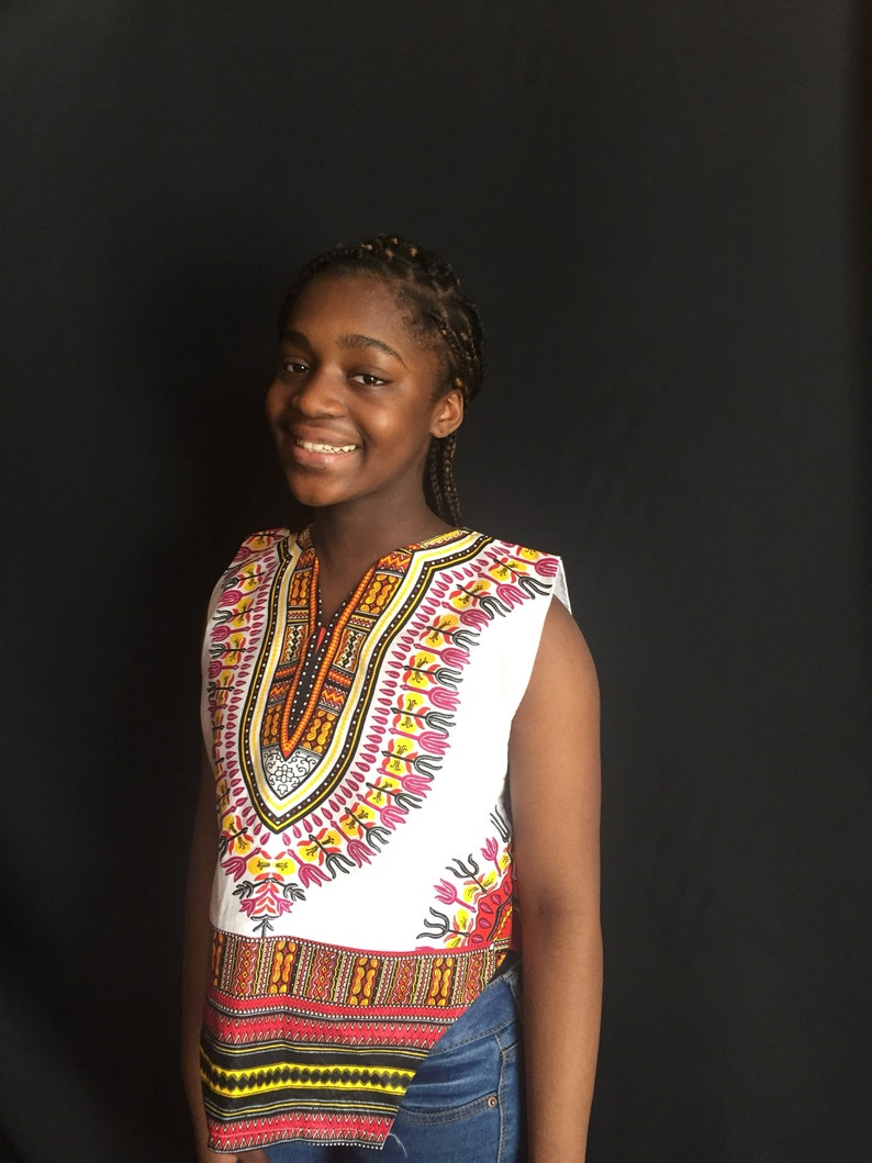 e376266e3 White/ Red Dashiki Crop top Ankara blouseAfrican clothing | Etsy