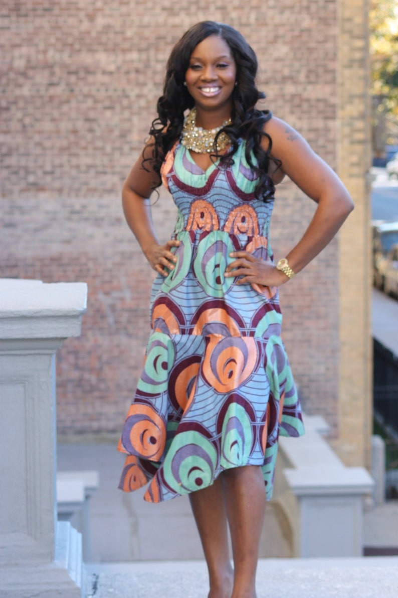 73ab605e9b JAYDU dress African Print Dress African Clothing Short