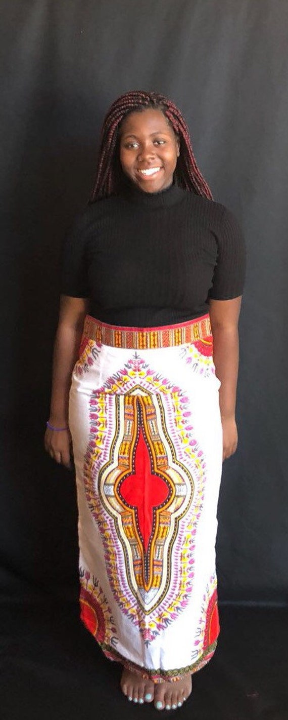 Skirt; African to Ready Clothing; Ship Green Ankara Skirt African African Print; Dashiki Authentic African Dashiki qpwvZWz