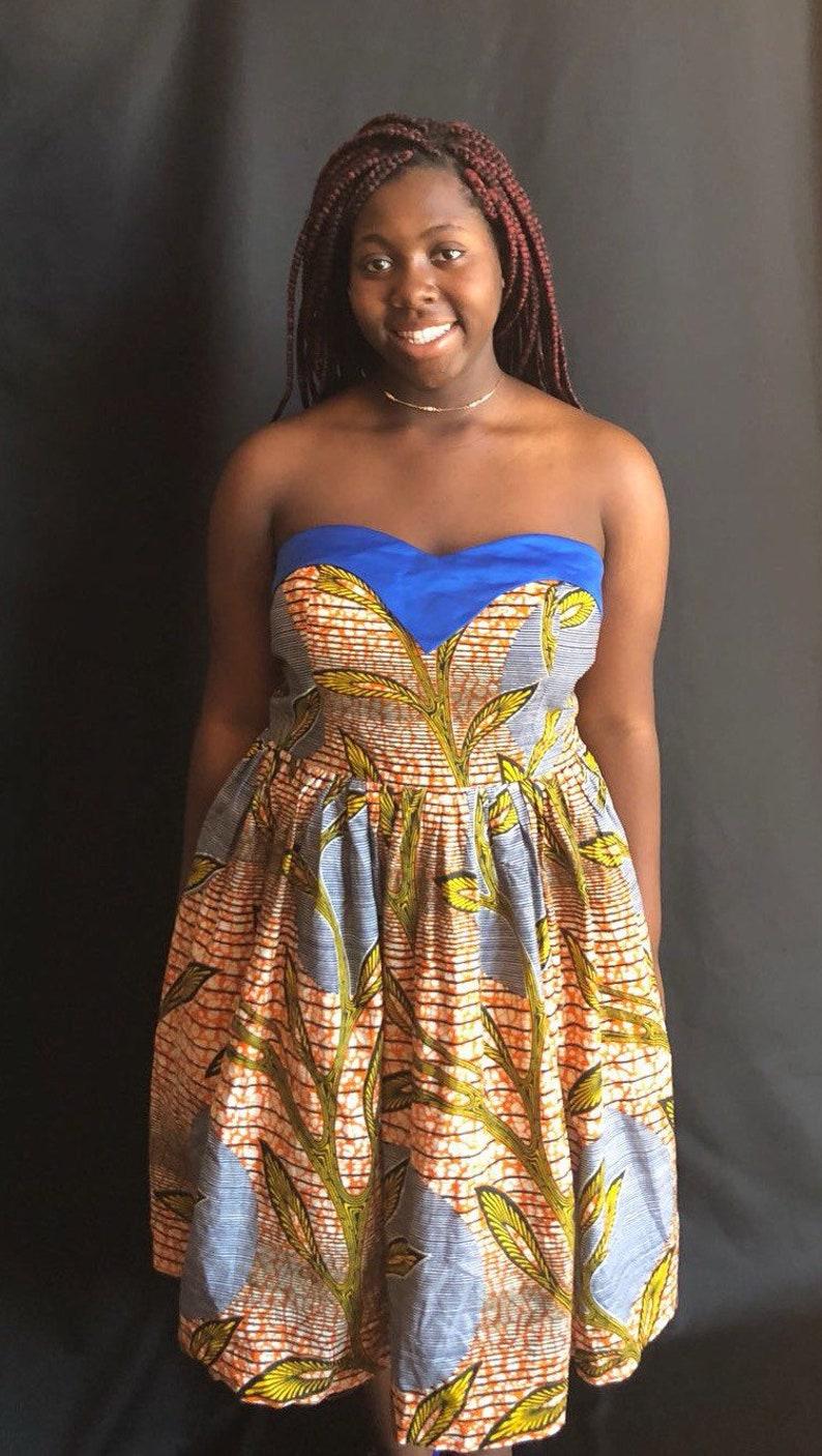 844c14a076 Ankara Print Dress African Print DressCotton Print Dress | Etsy