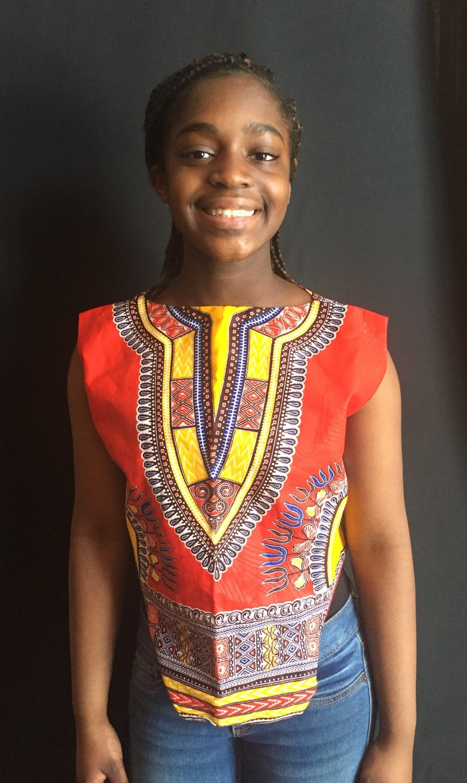 690e0e8d6 Orange Dashiki Crop top Ankara blouseAfrican clothing | Etsy