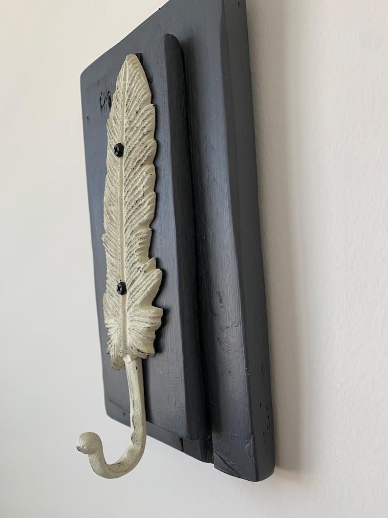 Rustic Feather Hook Entryway Hook Bathroom Hook Bedroom Hook
