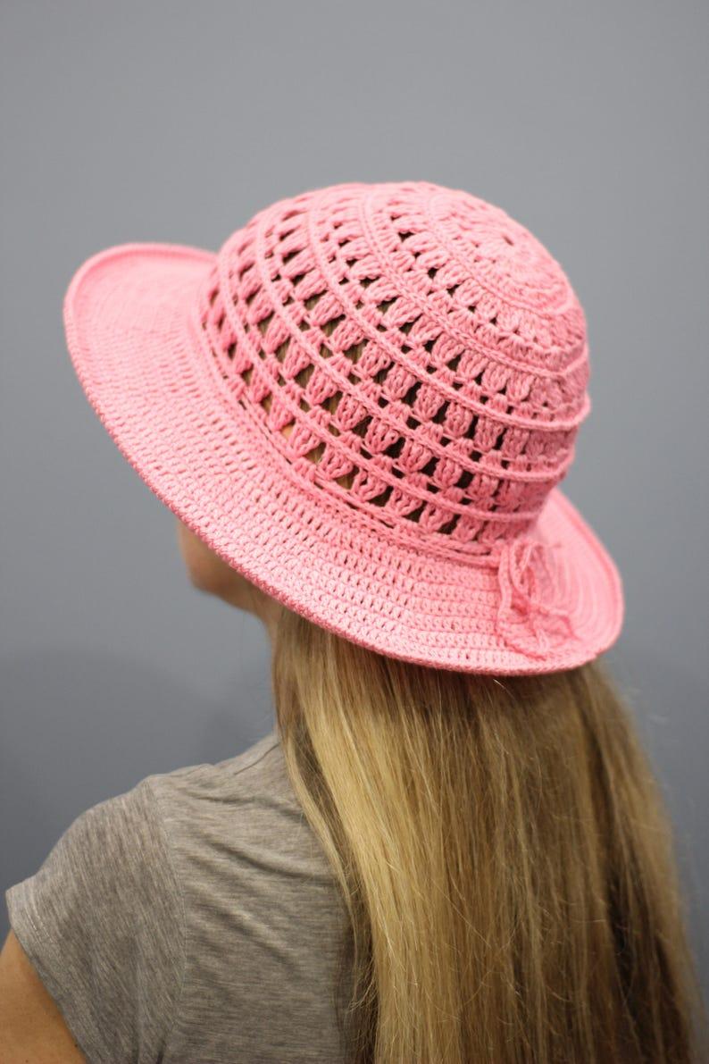 Crochet cappello da sole Womens estate cappello donna ...