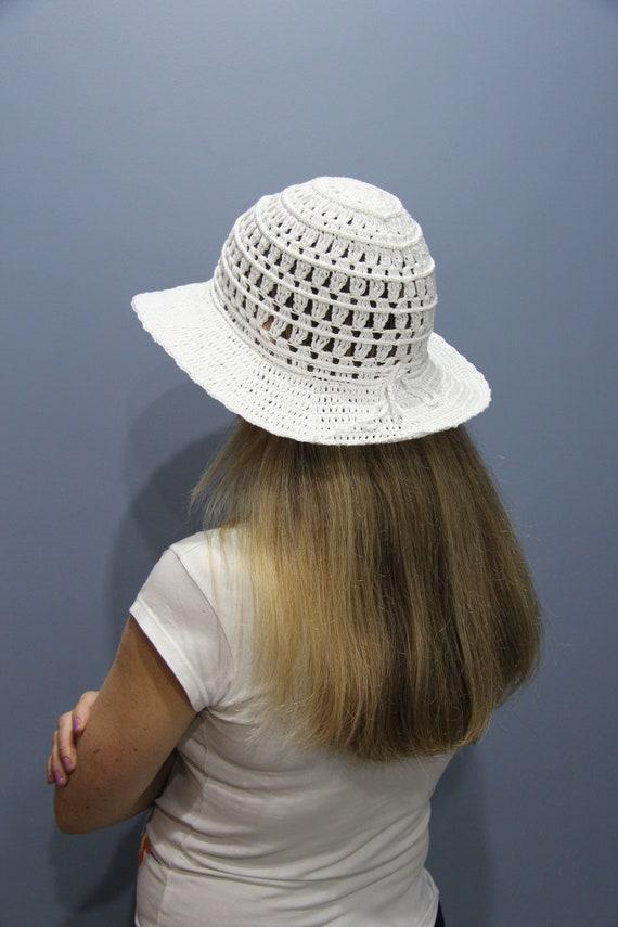Crochet Sun Hat Multi-color Summer Hat Floppy Brim Sun Hat Summer Hat