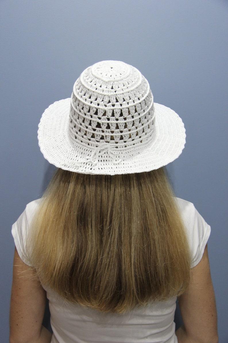8d4464804 Crochet sun hat women White summer hat Beach hat woman wide brim Women's  sun hat Beach hat bride