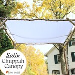 Wedding Chuppah Canopy - Satin - Jewish Wedding Chuppah Canopy - White Huppah Canopy - Wedding Huppah Canopy - Jewish Weddings Canopy