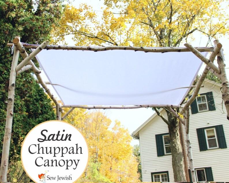 Wedding Chuppah Canopy  Satin  Jewish Wedding Chuppah Canopy image 0