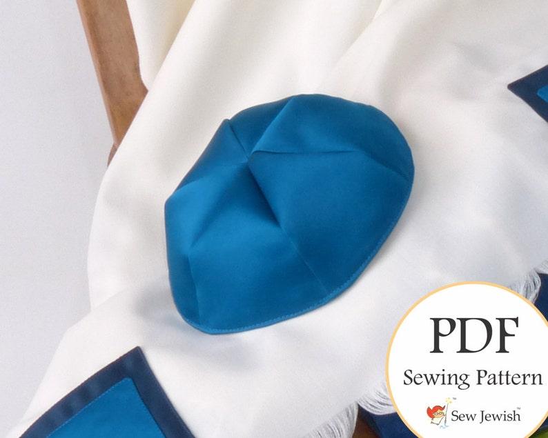 Kippah Sewing Pattern  Yarmulke Sewing Pattern  PDF Pattern image 0