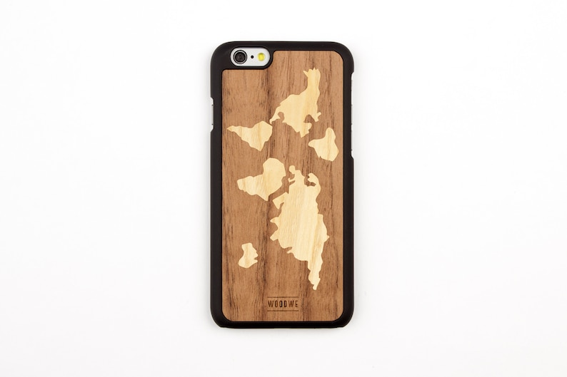 fdf396b848 World Map Wood Case for Iphone 5/ 5s / 5se / 6 / 6s / 7 / 8   Etsy