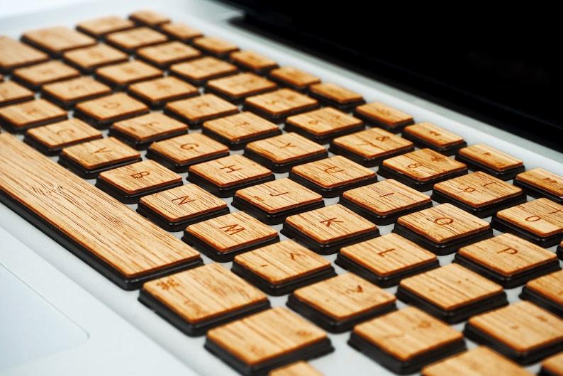 Real Bamboo Wood Macbook pro Keyboard Sticker Eco Friendly image 0