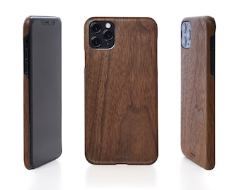 Iphone Wood cover, Walnut Wood Unique phone cases, Iphone 6 / 6s / 7 / 8 plus, Rustic Iphone X cover, Wood protective case for iPhone Xr