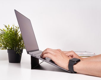 Laptop Stand for desk, minimalistic, portable and foldable laptop holder   For Macbook and other notebooks