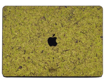 Macbook Protective Case Made of Moss for Apple Mac Air Pro 13 15 16 inch - Moss Mac book Case - Mac Cover - Case for gift