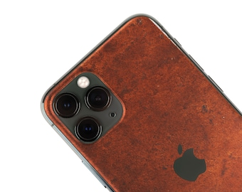 Real Metal Iphone Skin, zero waste Natural Phone Sticker, Rust Metal back cover for iPhone 5 / 6 / 7 / 8 / X / 11 / Pro / Max / Plus / SE