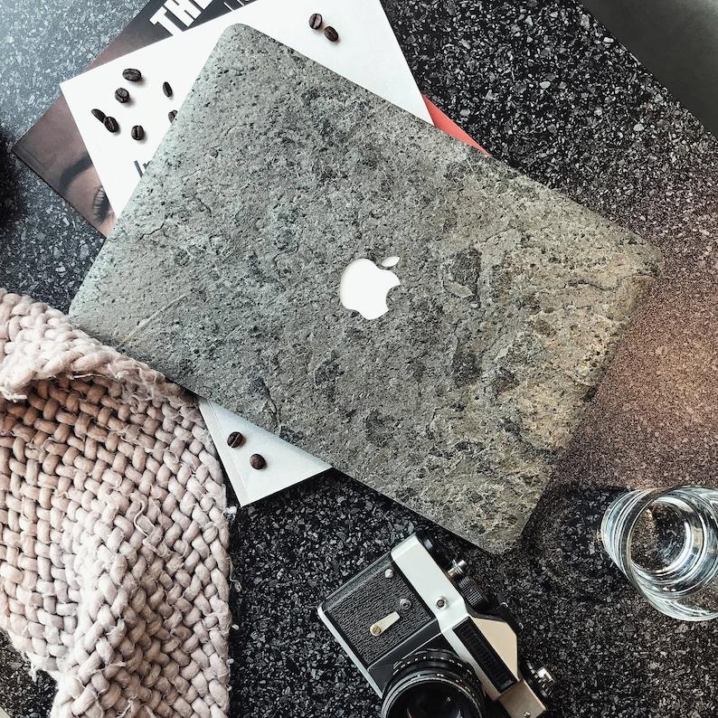huge selection of 4b60e e8cfe Natural Stone Macbook Case / Cover / - for Macbook Air | Pro | Non Retina |  Retina | Touch Bar | 11, 12, 13, 15 inch | Silver Grey