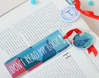 "Handmade funny bookmark ""Don't read my book!"", funny bookmark, gift for booklover, funny gift for bookworm"