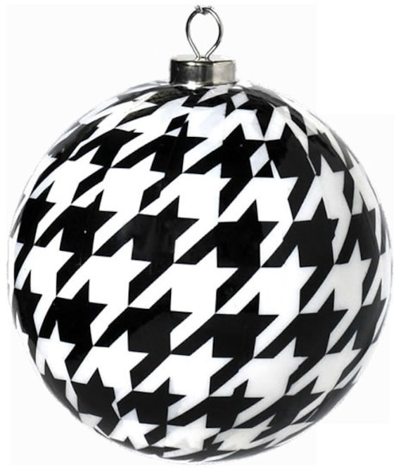 Black And White Christmas Ornaments Black And White Etsy