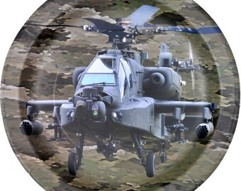 """Military Camo 9"""" Apache Lunch Plates 8 Pack"""