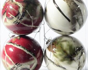 Next Camo Crimson and White Camo Ornaments