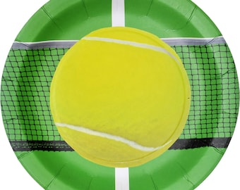 """Tennis Party 9"""" Lunch Plates 8 Pack"""