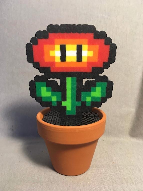 En Pot De Fleur De Feu Pixels Pixel Art