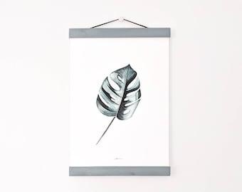 Marco de madera  | Marco para colgar cartel | Soporte para ilustraciones | Suspensión cartel | Colgador de láminas | Portafotos madera