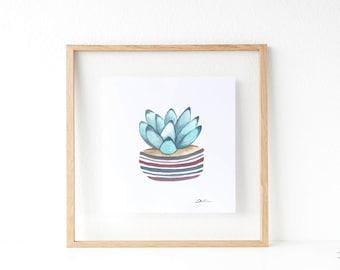 Cactus print: Succulent print | botanical print | cactus wall art | cactus art print | cacti art | succulents and cacti.  SERIES B