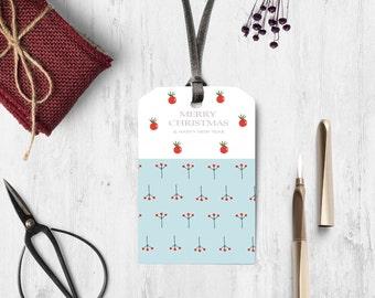 Printable Christmas Gift Tags, Christmas Hang Tags, Holiday Gift Tags, Christmas favor diy tag, Printable greetings, Digital Christmas