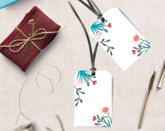 Printable Christmas Gift Tags, Christmas Hang Tags, Holiday Gift Tags, Christmas favor diy tag, Printable greetings, Digital Christmas