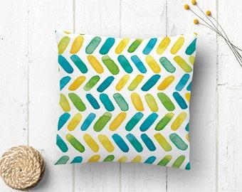 Cushion case | Green pillow case | Cushion soft and warm tonalities | Pillowcase | Watercolor pillow case | Watercolor home decoration