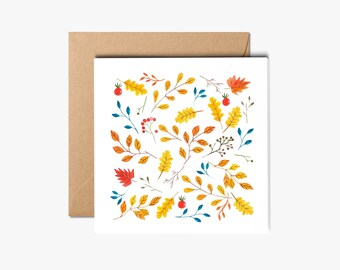 Boxed holiday cards, Handmade floral Cards with envelope, Holiday Greeting Card, Holiday Card, Card Set.