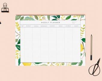 Weekly calendar printable | Weekly desk Planner | Desk Planner | A4 Printable weekly planner | Instant download | Desk calendar weekly