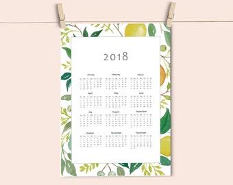 Calendario 2018 descargable, calendario imprimible.
