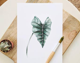 Tropical print | Tropical leaf paint |  Leaves print | Tropical decor  | Botanical decor idea | Housewarming gift idea