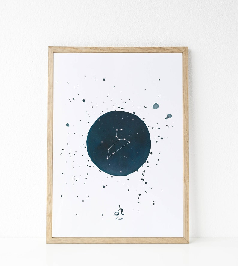 Constellation prints (Taurus-Gemini-Cancer-Leo) | Zodiac sign  |Constellations watercolors | Astrology illustration anniversary gifts idea