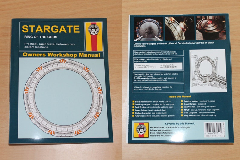 Stargate Sg1 Manual Cover Printables Digital Download Etsy