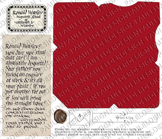 photo regarding Harry Potter Printable Props known as Harry Potter, Howler, Electronic Down load, Printable Prop