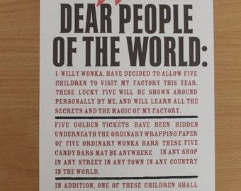 Wonka Poster, Printable, Digital Download