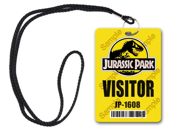 Jurassic Park Visitor Pass Photoshop Files Digital Download
